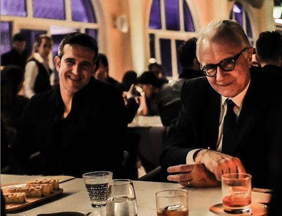 El arquitecto Manuel Clavel (izquierda), junto al chef Alain Ducasse